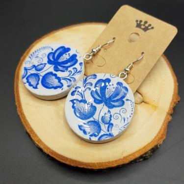 Earrings Bleu Flower